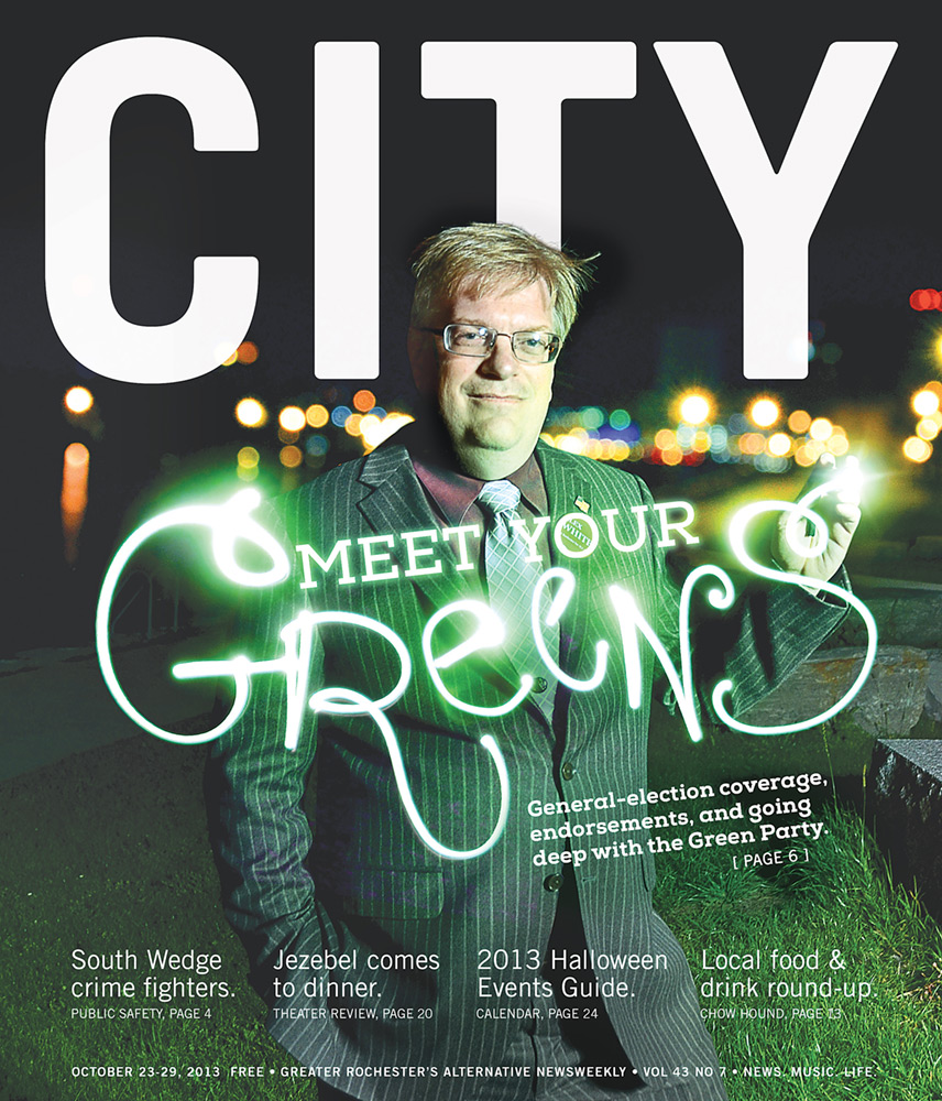 CITY Newspaper cover - Green Party