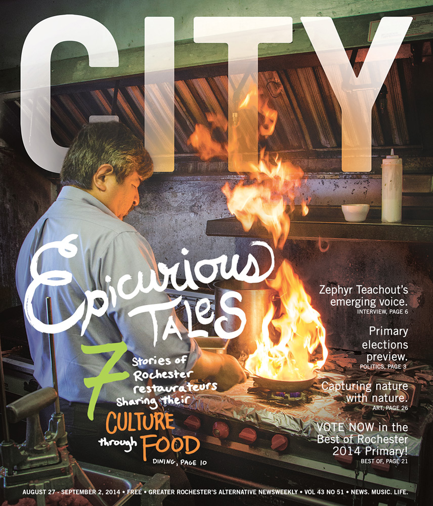CITY Newspaper cover - Epicurious Tales