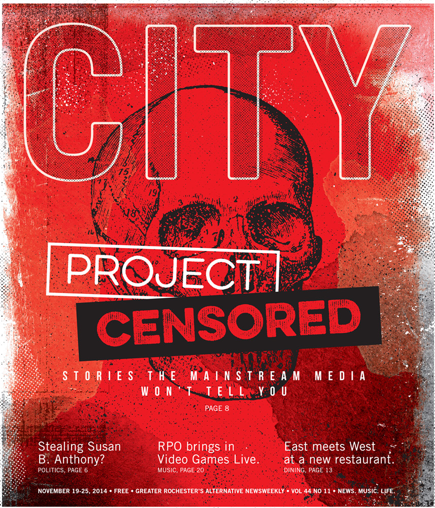 CITY Newspaper cover - Project Censor