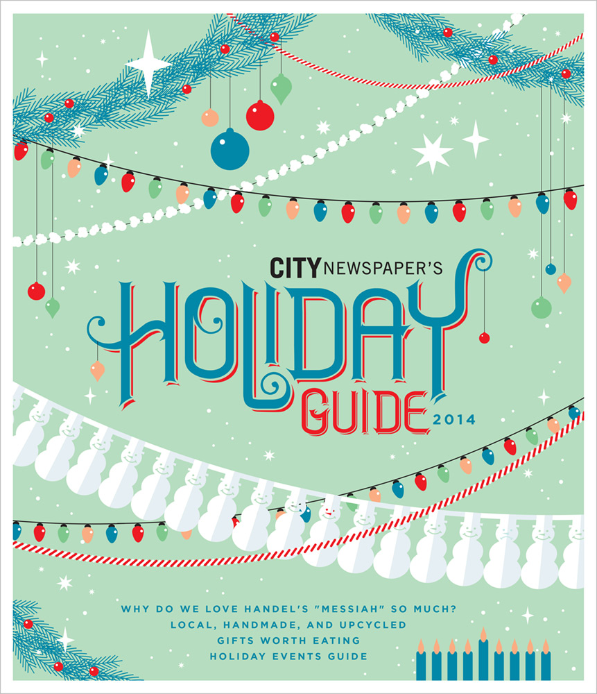 CITY Newspaper cover - Holiday Guide 2014